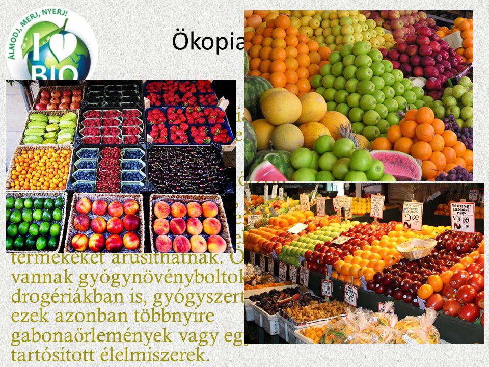 Ökopiac,Biopiac Bio és Öko piacok olyan piacok, ahol kizárólag ellen ő rzött bioélelmiszereket lehet árusítani. A piacon garantáltan ellen ő rzött bio
