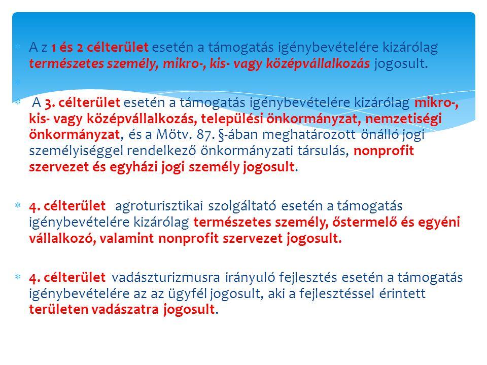 Támogatás igénybevételére jogosult a) a természetes személy, b) a mikro-, kis- vagy középvállalkozás, c) a települési önkormányzat, a nemzetiségi önkormányzat vagy a Magyarország helyi önkormányzatairól szóló 2011.