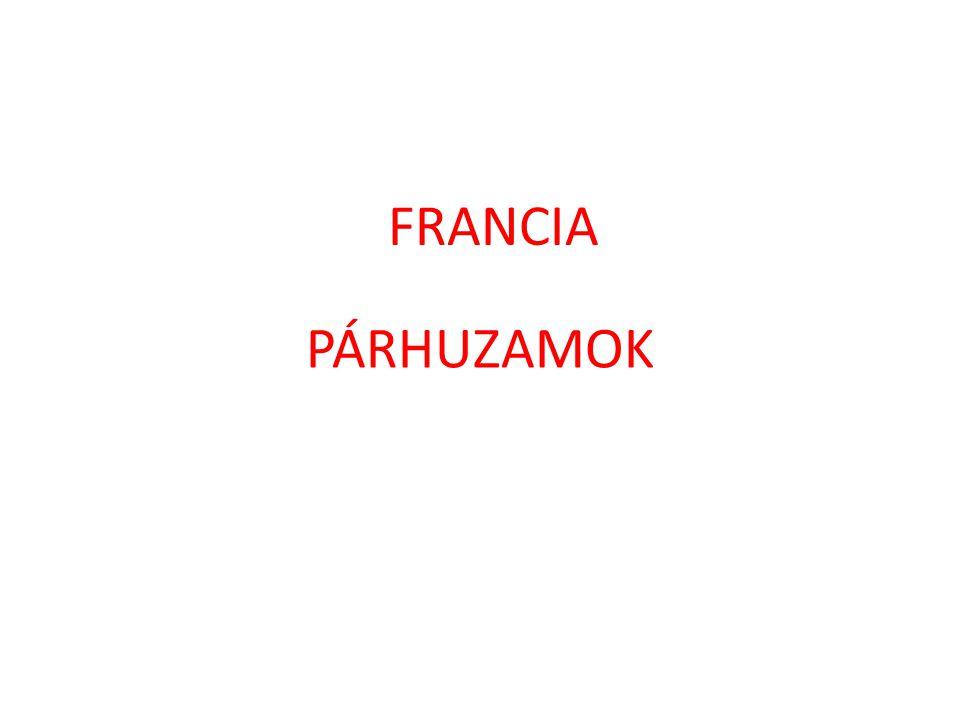 FRANCIA PÁRHUZAMOK
