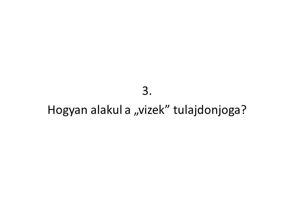 "3. Hogyan alakul a ""vizek"" tulajdonjoga?"