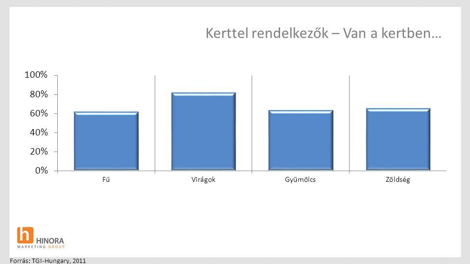 Kerttel rendelkezők – Van a kertben… Forrás: TGI-Hungary, 2011