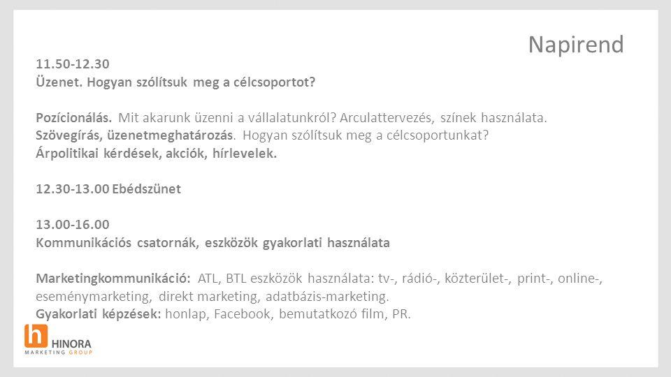 Affinitási indexek nem és kor szerint Forrás: TGI-Hungary, 2011