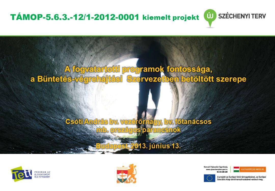TÁMOP-5.6.3.-12/1-2012-0001 kiemelt projekt