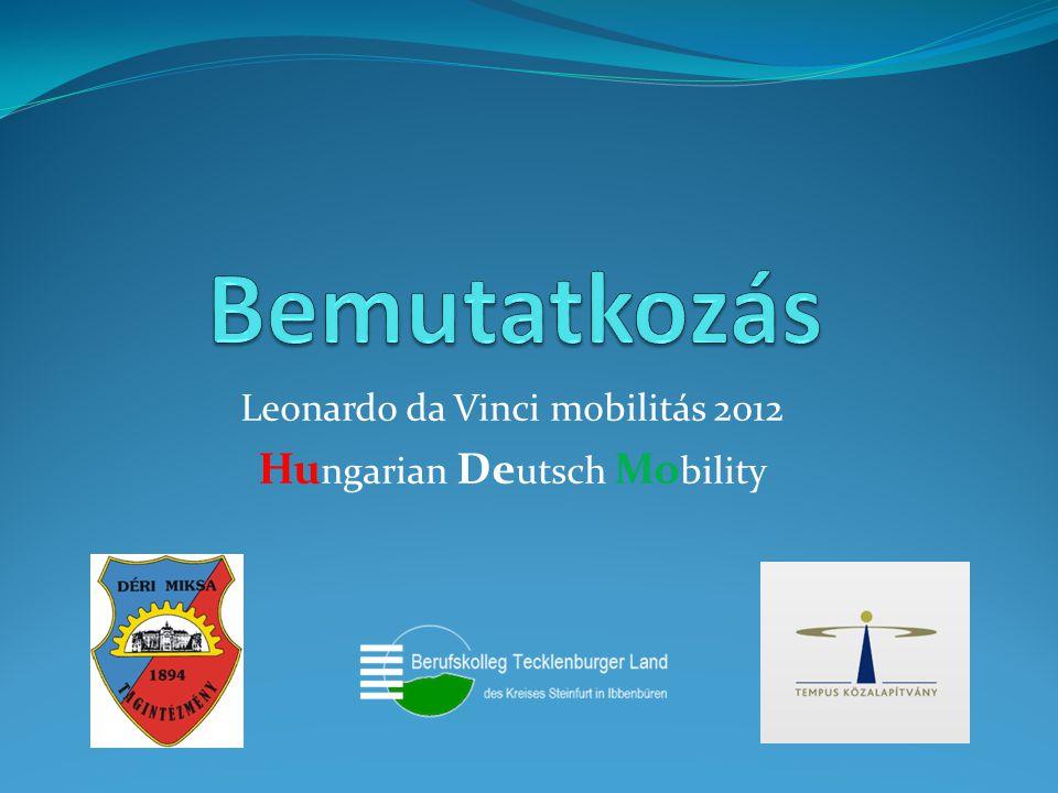 Leonardo da Vinci mobilitás 2012 Hu ngarian De utsch Mo bility