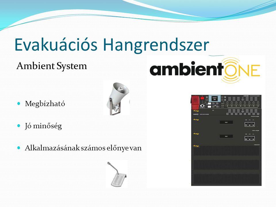 Evakuációs Hangrendszer Ambient System  Megbízható  Jó minőség  Alkalmazásának számos előnye van