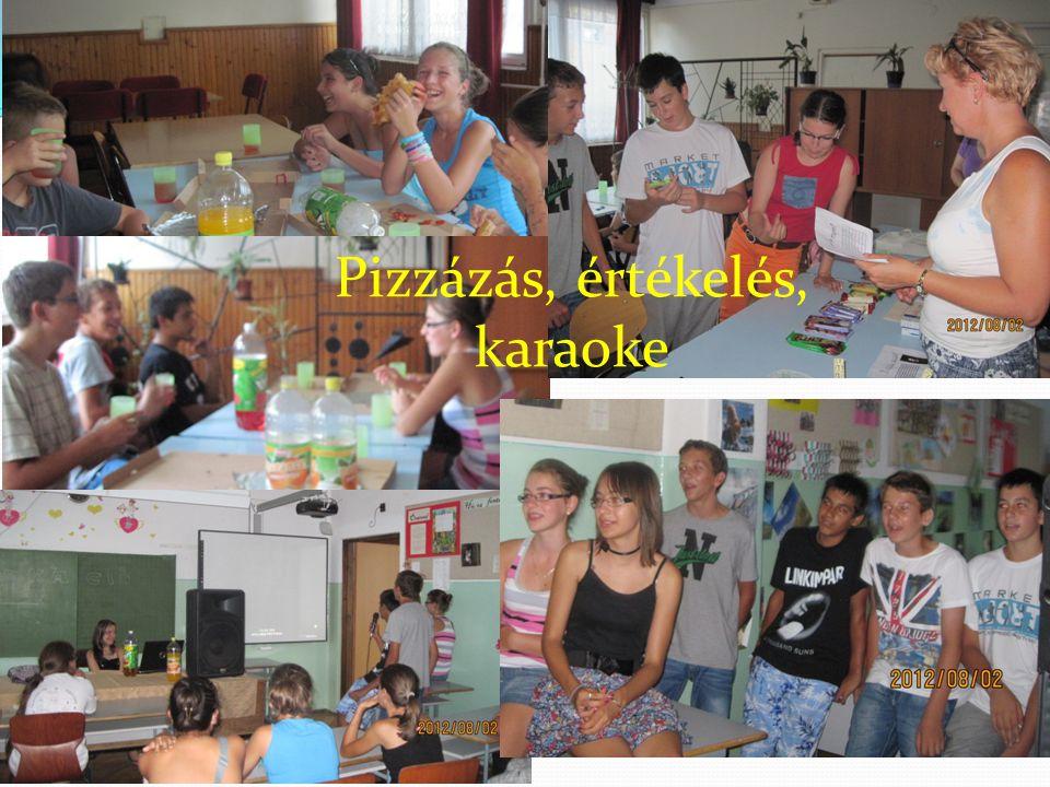 Pizzázás, értékelés, karaoke