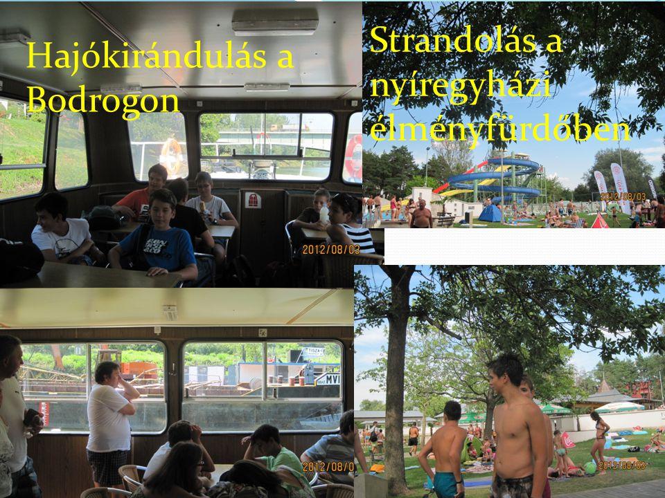 Hajókirándulás a Bodrogon Strandolás a nyíregyházi élményfürdőben