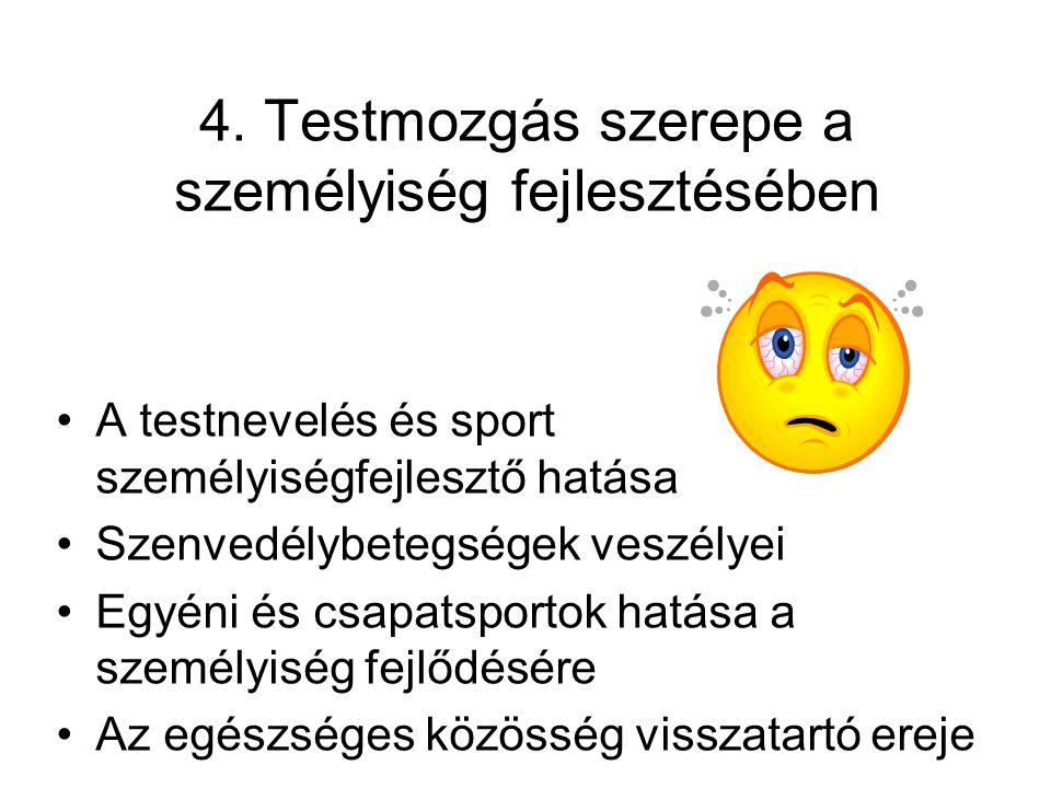 5.A sportágak és a koondicionális képességek kapcsolata •A sportágak hatása a koondicionális képességekre •Erő,állóképesség, gyorsaság, ügyesség, izületi mozgékonyság