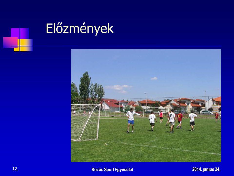 Előzmények Közös Sport Egyesület 12. 2014. június 24.2014. június 24.2014. június 24.