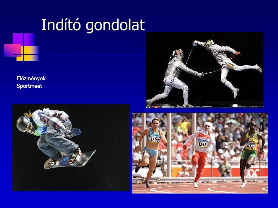 Előzmények Sportmeet Indító gondolat