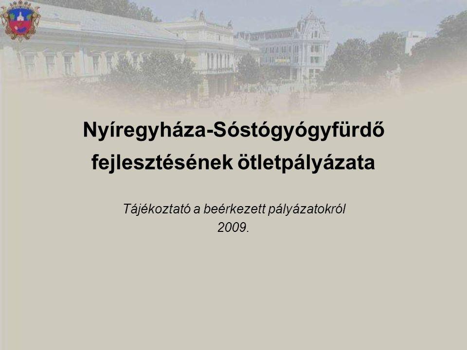 Nyíregyháza-Sóstógyógyfürdő fejlesztésének ötletpályázata Tájékoztató a beérkezett pályázatokról 2009.