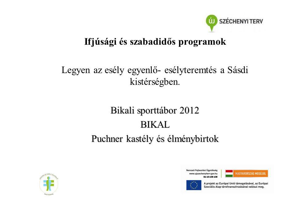Ifjúsági és szabadidős programok Legyen az esély egyenlő- esélyteremtés a Sásdi kistérségben.