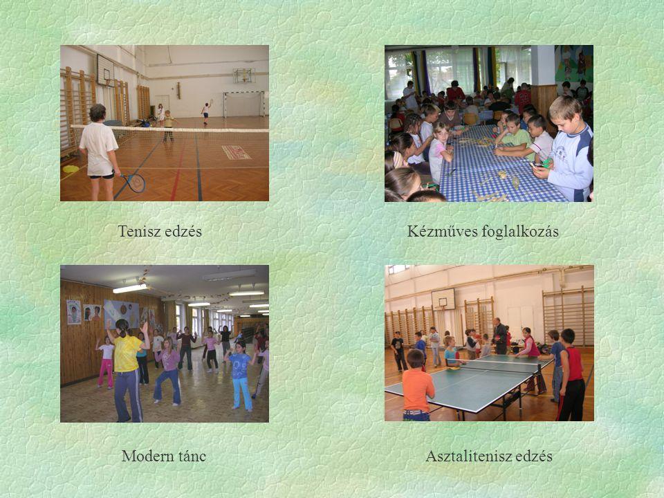 Tenisz edzés Kézműves foglalkozás Modern táncAsztalitenisz edzés