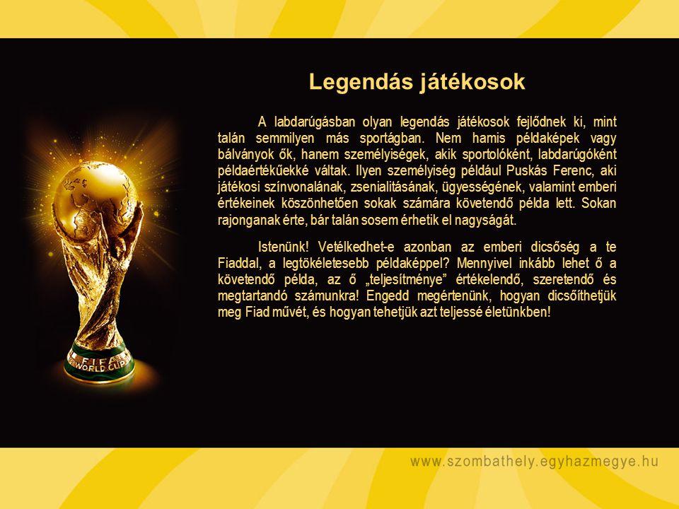 A labdarúgásban olyan legendás játékosok fejlődnek ki, mint talán semmilyen más sportágban. Nem hamis példaképek vagy bálványok ők, hanem személyisége
