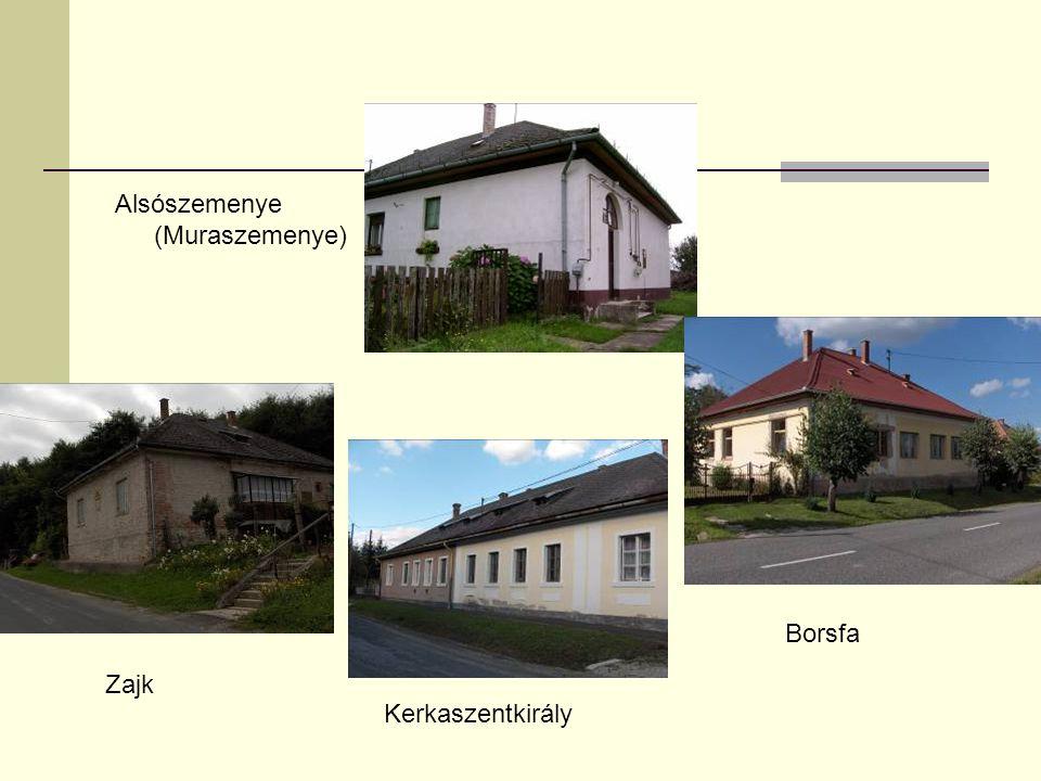 Alsószemenye (Muraszemenye) Zajk Kerkaszentkirály Borsfa