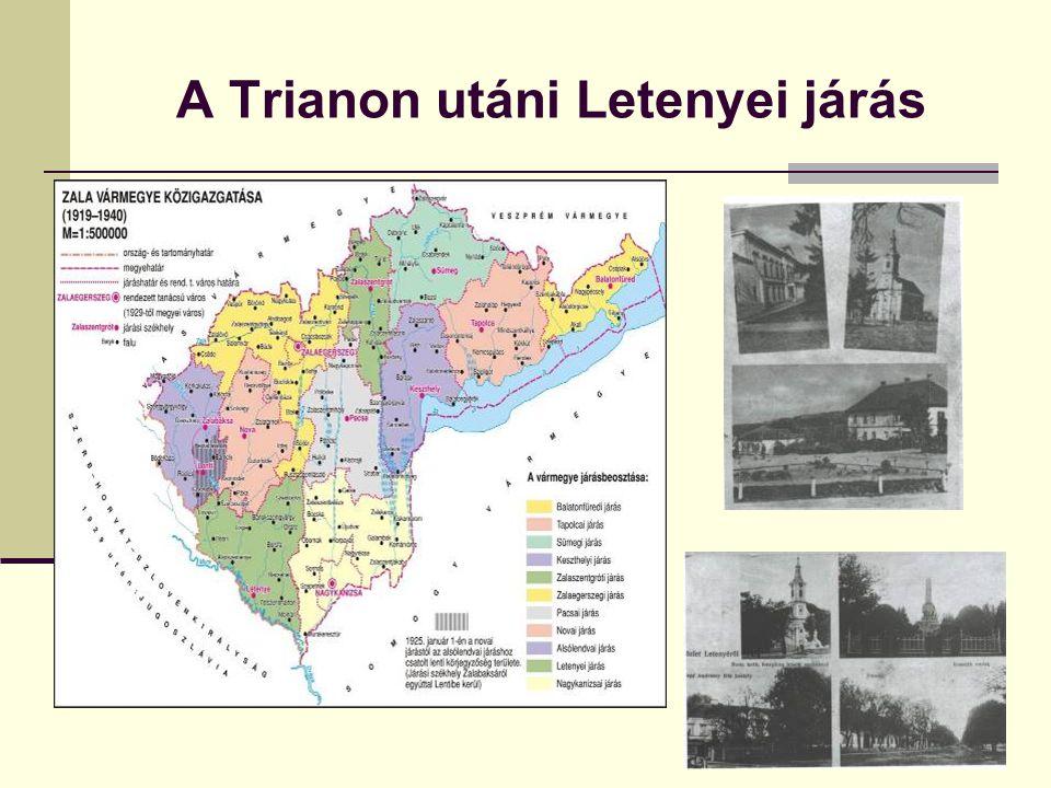 A Trianon utáni Letenyei járás