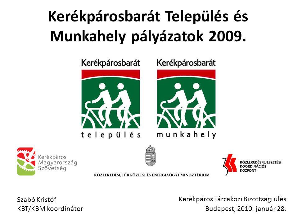 Kerékpáros Tárcaközi Bizottsági ülés Budapest, 2010.