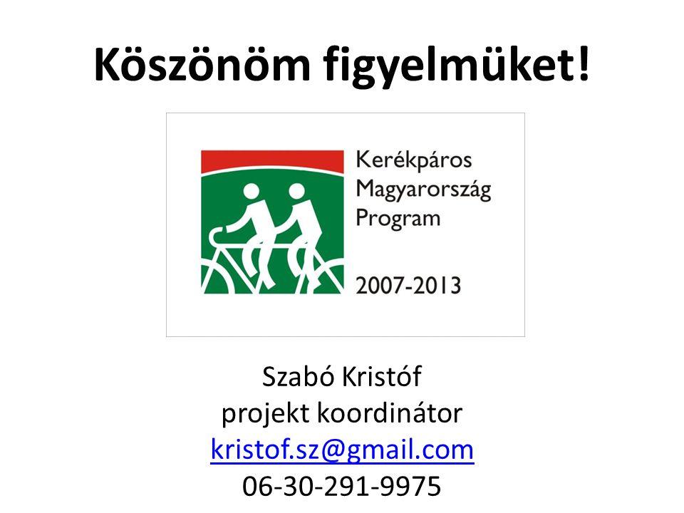 Köszönöm figyelmüket! Szabó Kristóf projekt koordinátor kristof.sz@gmail.com 06-30-291-9975