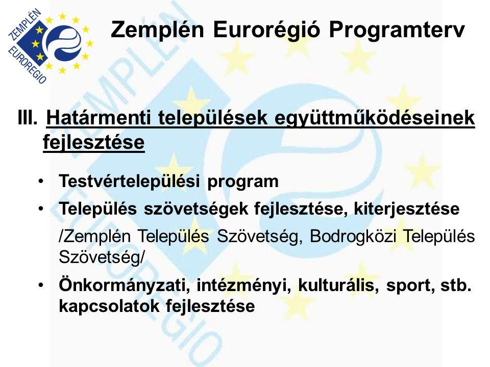 Zemplén Eurorégió Programterv III.