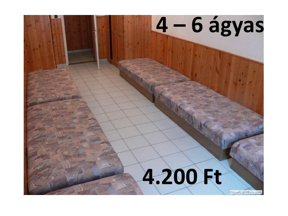4 – 6 ágyas 4.200 Ft