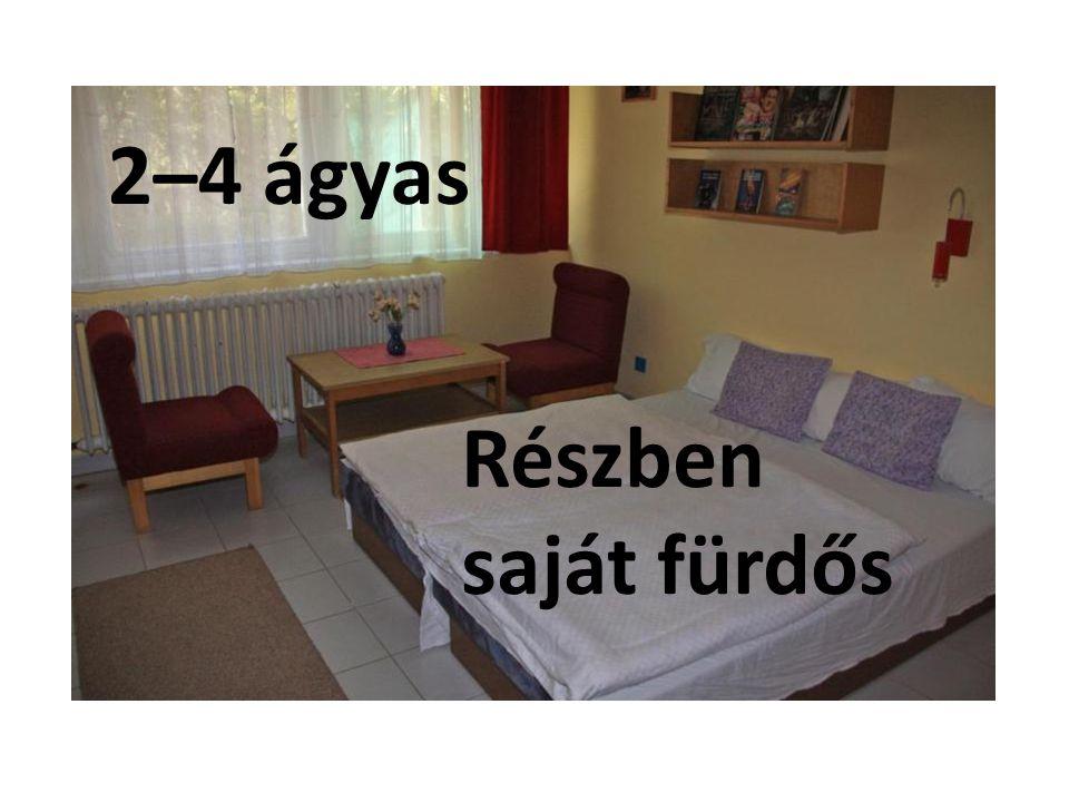 2–4 ágyas Részben saját fürdős