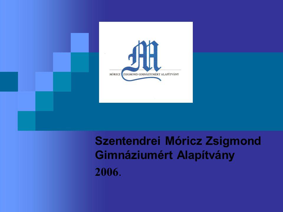 Szentendrei Móricz Zsigmond Gimnáziumért Alapítvány 2006.