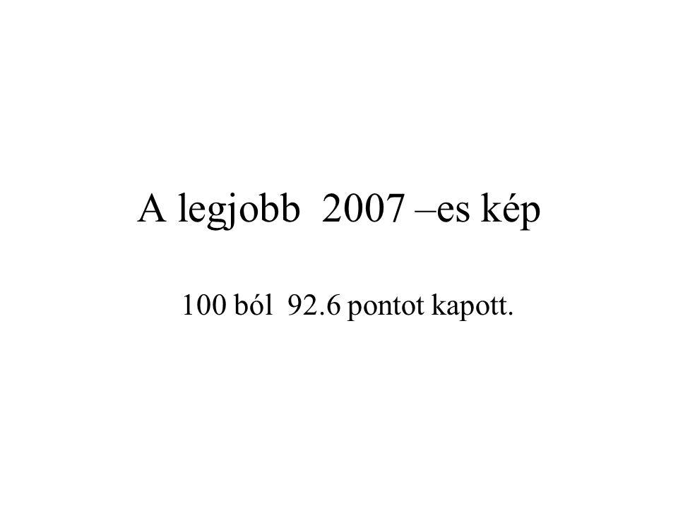 A legjobb 2007 –es kép 100 ból 92.6 pontot kapott.