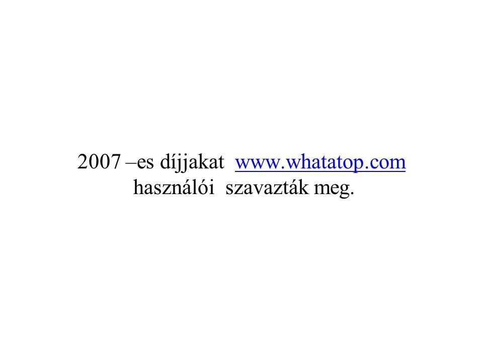 2007 –es díjjakat www.whatatop.com használói szavazták meg.
