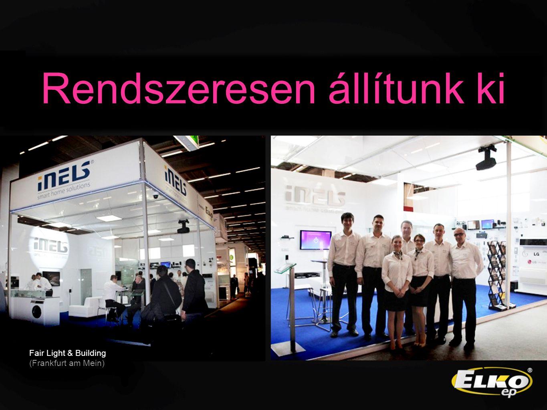 Fair Light & Building (Frankfurt am Mein) Rendszeresen állítunk ki