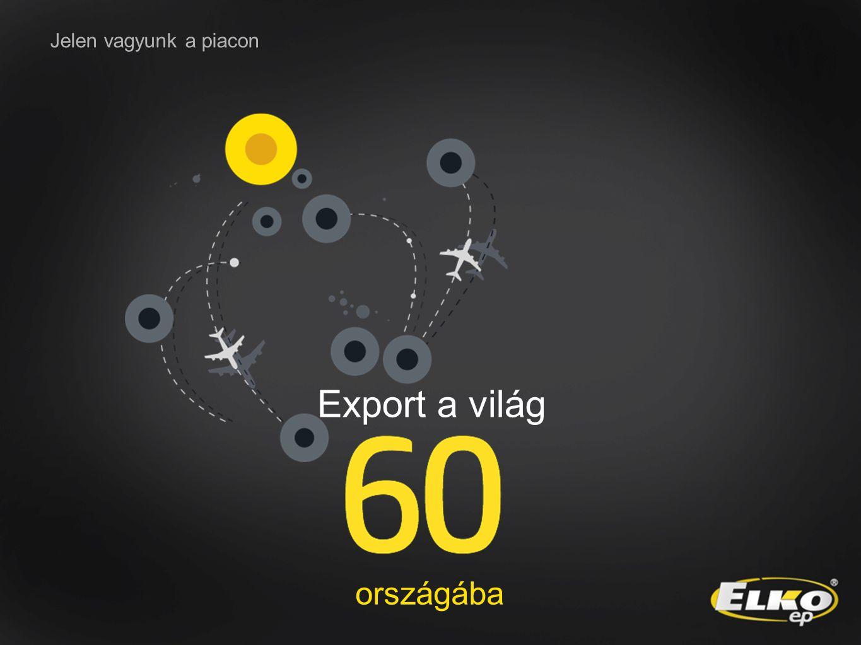 Jelen vagyunk a piacon Export a világ országába