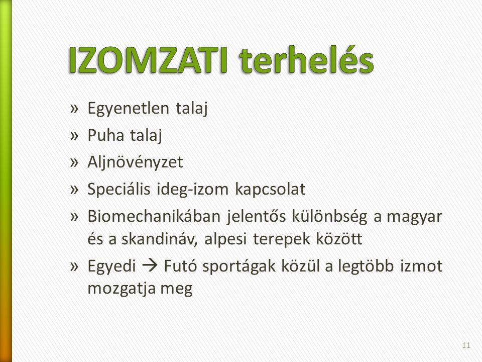 » Egyenetlen talaj » Puha talaj » Aljnövényzet » Speciális ideg-izom kapcsolat » Biomechanikában jelentős különbség a magyar és a skandináv, alpesi te