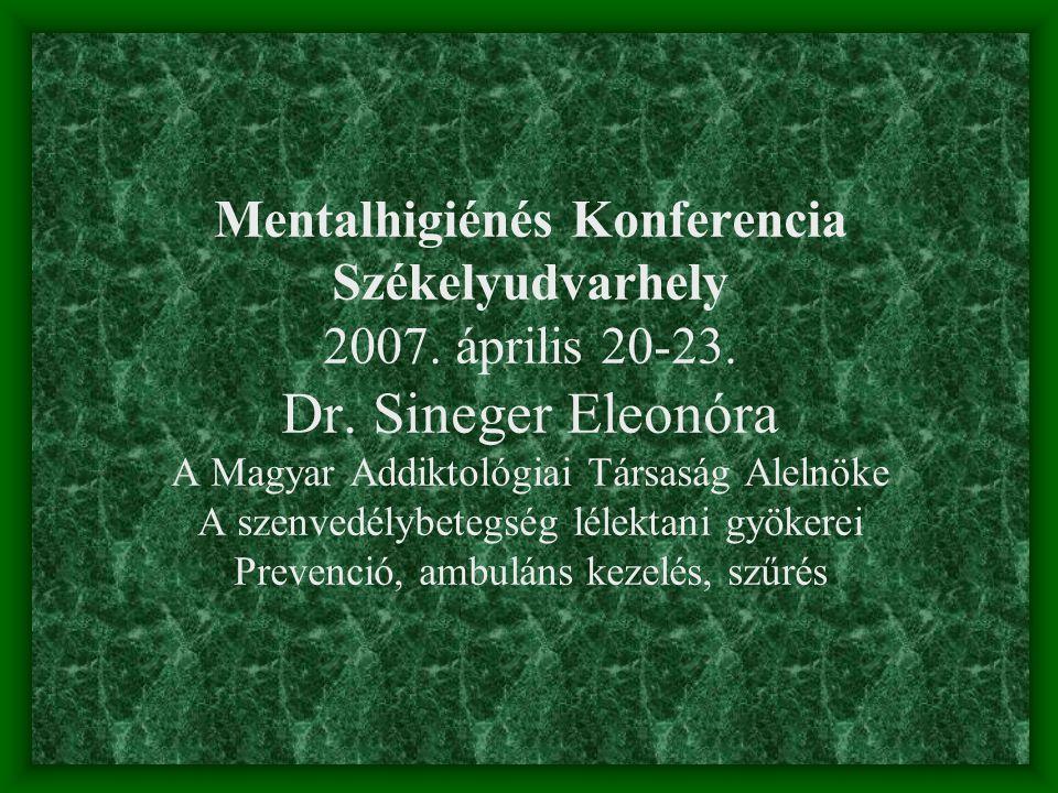 Mentalhigiénés Konferencia Székelyudvarhely 2007.április 20-23.
