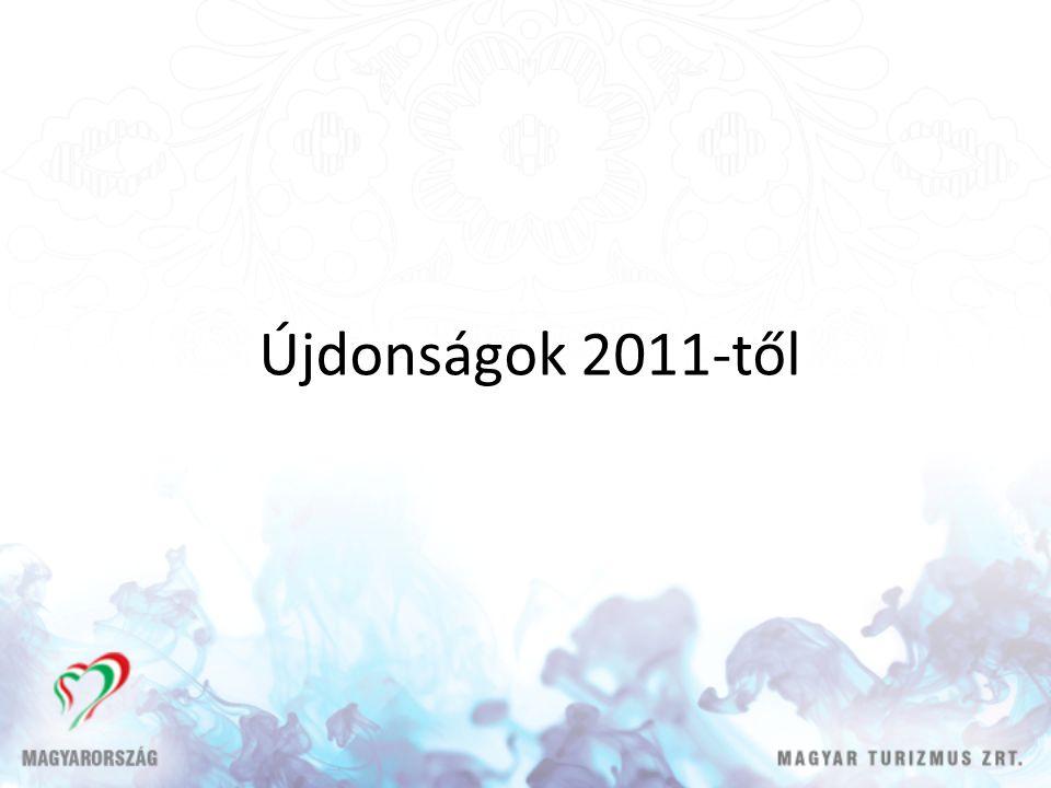 Újdonságok 2011-től