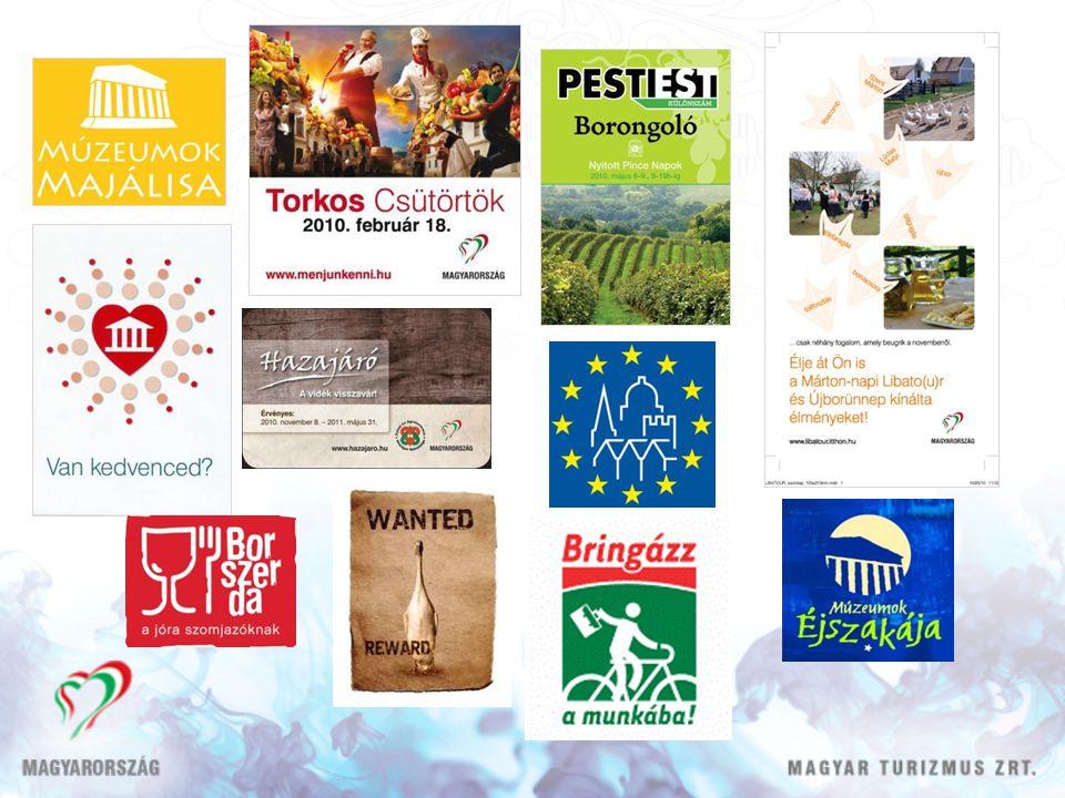 EU elnökség • Nemzetközi bemutatkozás, fókusz • Hazánk prezentációs lehetőségének kihasználása • Külügyminisztériummal, társintézményekkel együttműködésben végezzük • Tevékenységünk: újságírói tanulmányutak, kiadványok, contact center – hotline, informátori kitelepülés, külföldi programok és kapcsolódó akciók • Rendezvények: turizmus konferencia, ETC közgyűlés