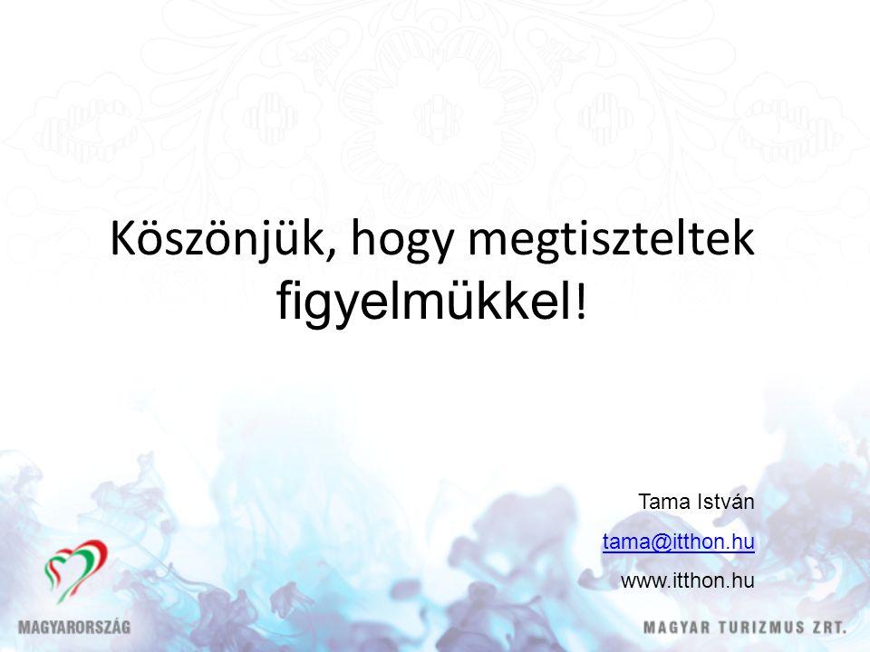 Köszönjük, hogy megtiszteltek figyelmükkel ! Tama István tama@itthon.hu www.itthon.hu