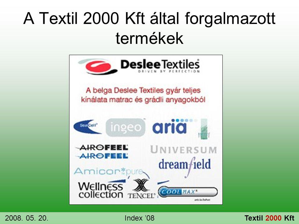 A Textil 2000 Kft által forgalmazott termékek 2008. 05. 20.Index '08Textil 2000 Kft