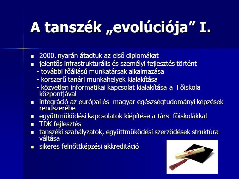 """A tanszék """"evolúciója I. 2000."""
