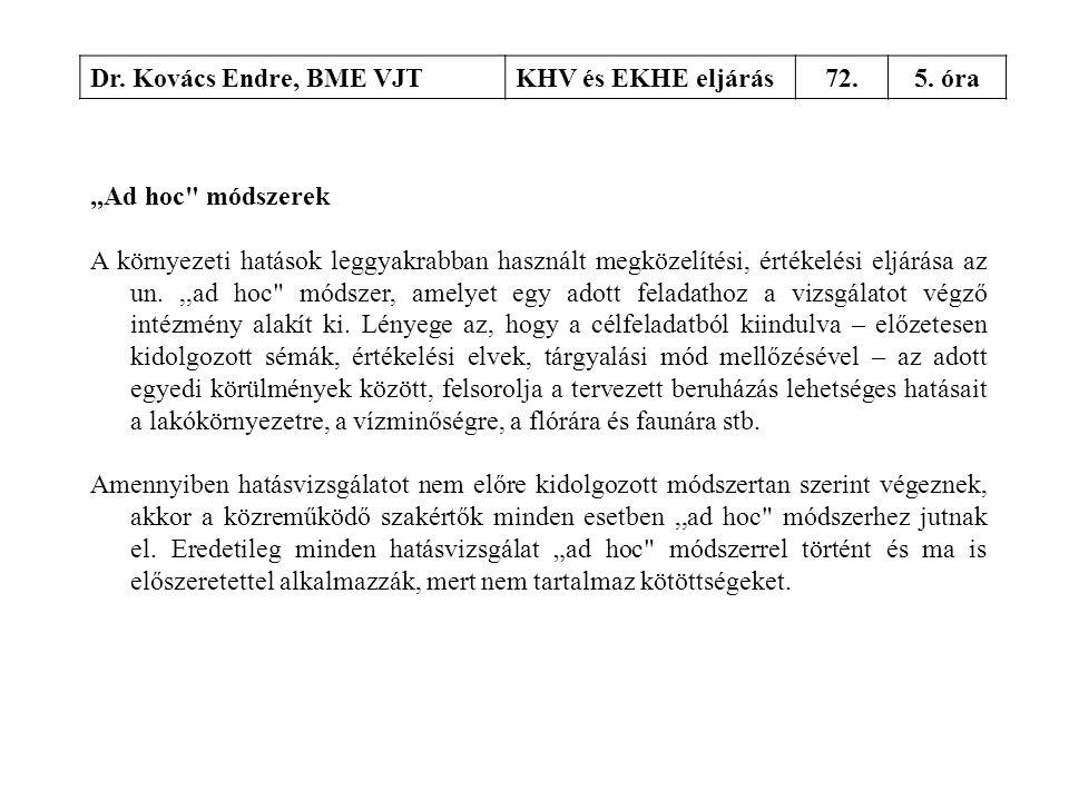 """Dr. Kovács Endre, BME VJTKHV és EKHE eljárás72.5. óra """"Ad hoc"""