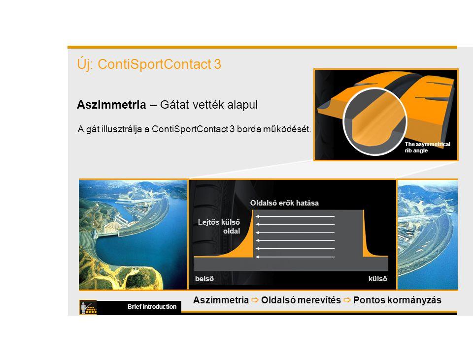A gát illusztrálja a ContiSportContact 3 borda működését.