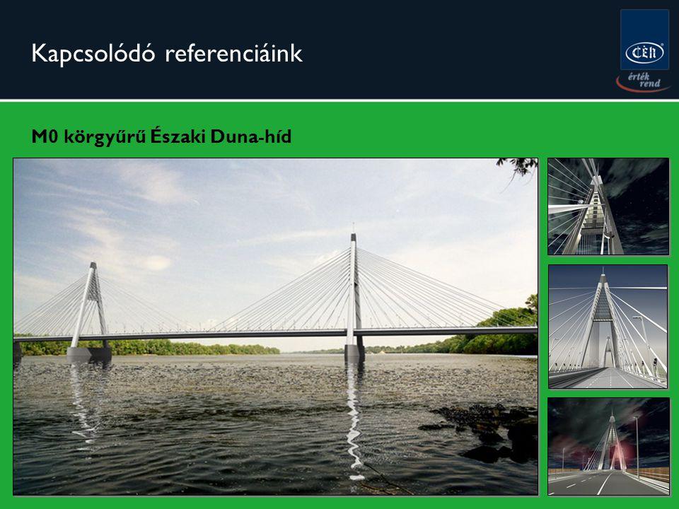 Kapcsolódó referenciáink M0 körgyűrű Északi Duna-híd