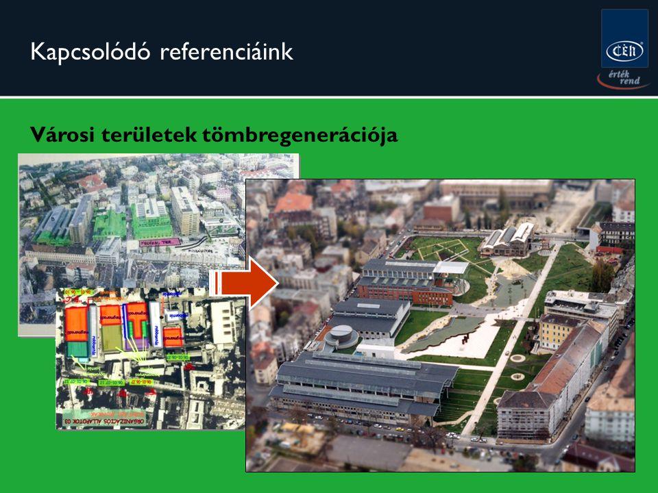 Kapcsolódó referenciáink Városi területek tömbregenerációja