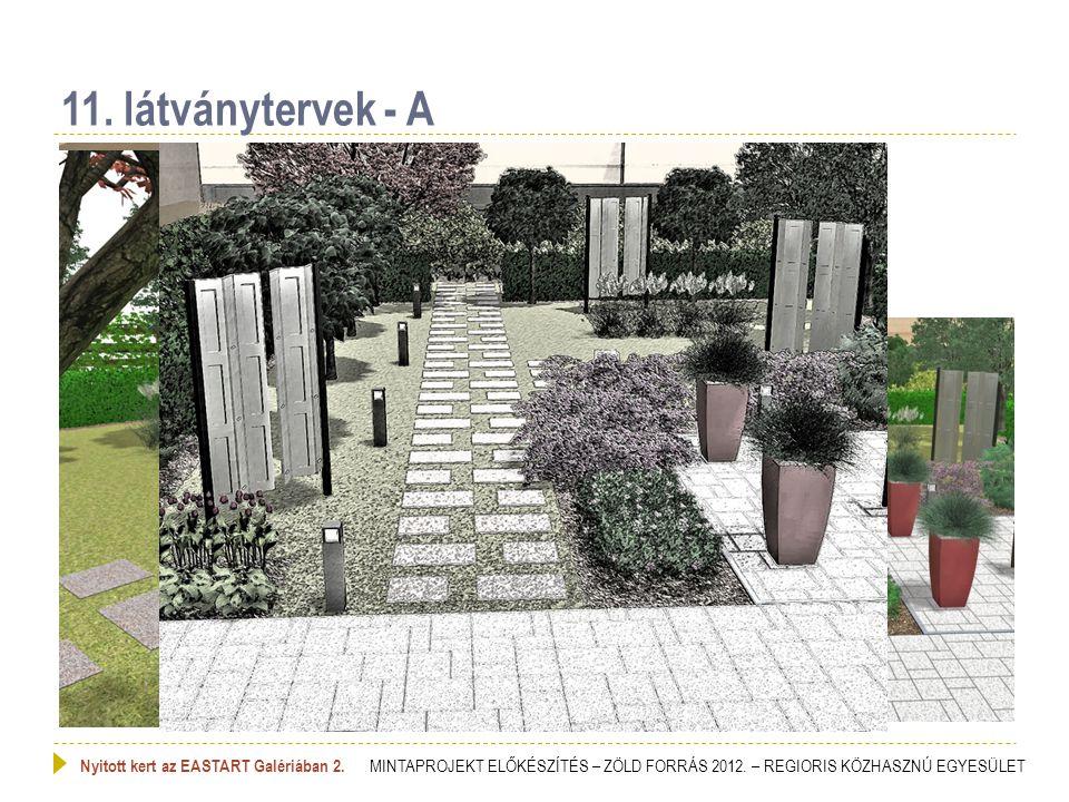 11. látványtervek - A Nyitott kert az EASTART Galériában 2. MINTAPROJEKT ELŐKÉSZÍTÉS – ZÖLD FORRÁS 2012. – REGIORIS KÖZHASZNÚ EGYESÜLET