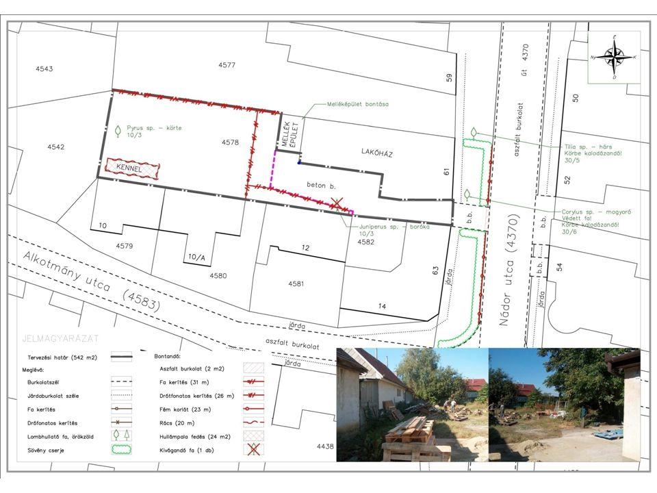  bontási terv 3. bontások Nyitott kert az EASTART Galériában 2. MINTAPROJEKT ELŐKÉSZÍTÉS – ZÖLD FORRÁS 2012. – REGIORIS KÖZHASZNÚ EGYESÜLET