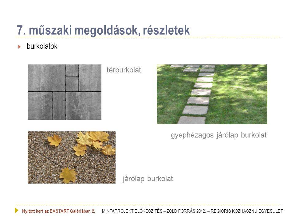  növény alkalmazás 1.8. műszaki megoldások, részletek Nyitott kert az EASTART Galériában 2.