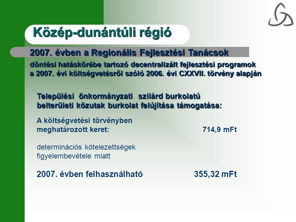 Közép-dunántúli régió 2007.