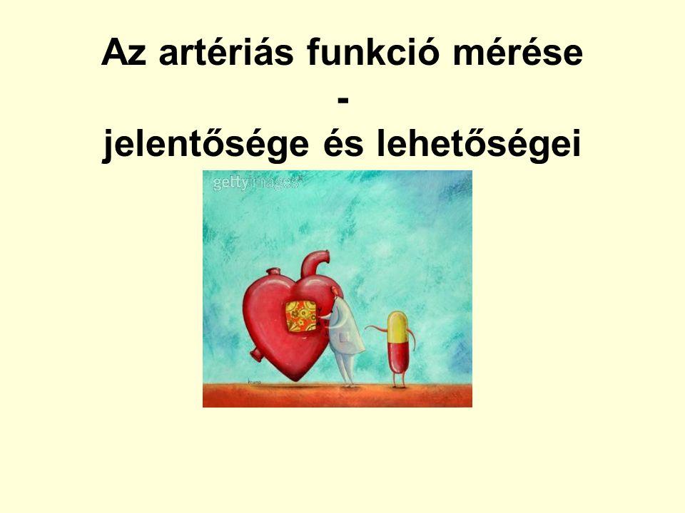 4,1 m/s 3,2 m/s Rajzer et al: Journal of Hypertension 2008, 26:2001–2007 A különböző módszerek összehasonlítása
