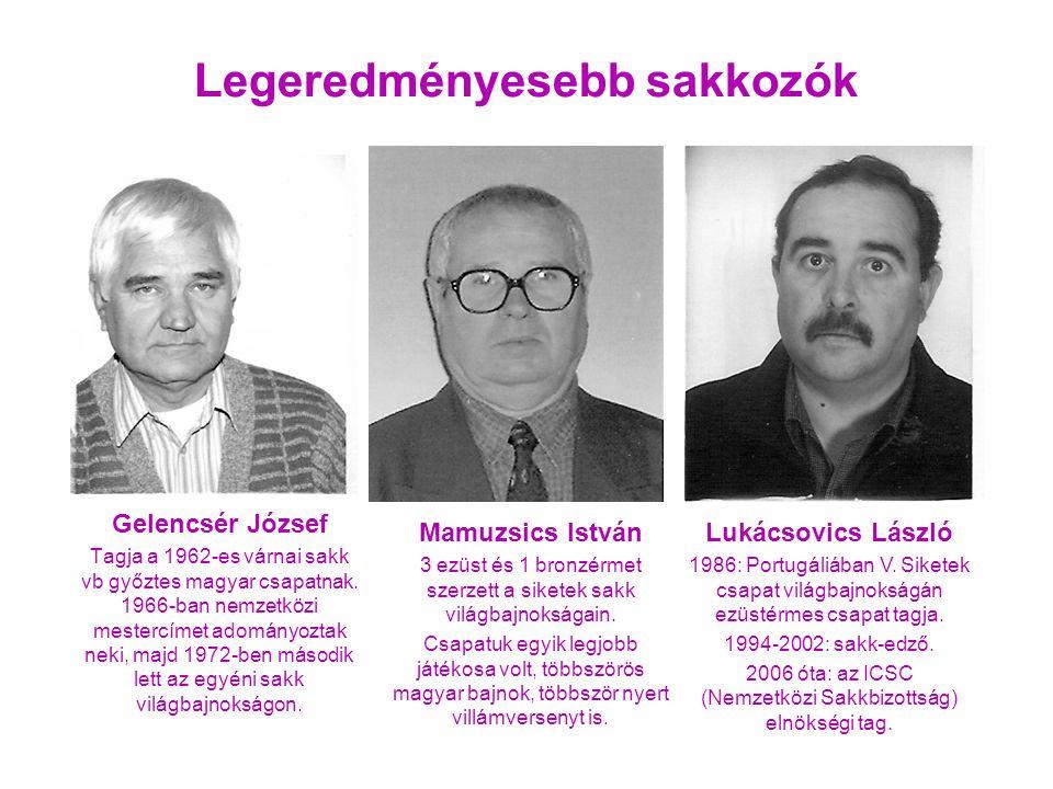 Gelencsér József Tagja a 1962-es várnai sakk vb győztes magyar csapatnak. 1966-ban nemzetközi mestercímet adományoztak neki, majd 1972-ben második let