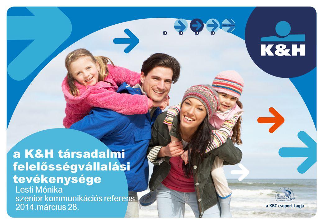 a K&H társadalmi felelősségvállalási tevékenysége Lesti Mónika szenior kommunikációs referens 2014.március 28.