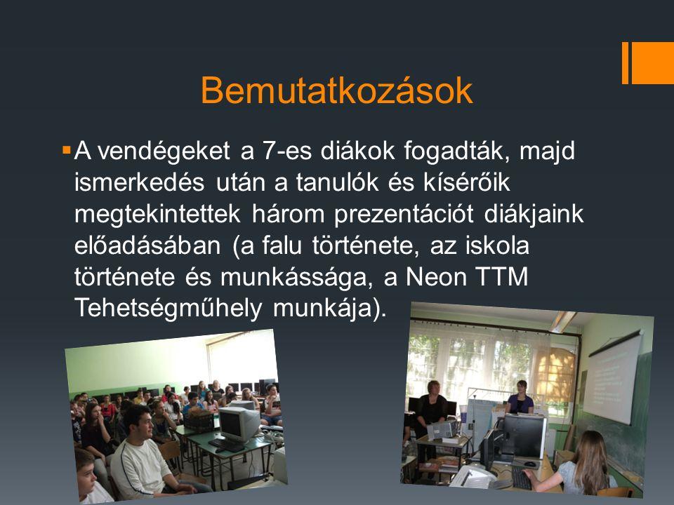 Az iskola és munkájának megismerése  A Deák Ferenc iskola is bemutatkozott.