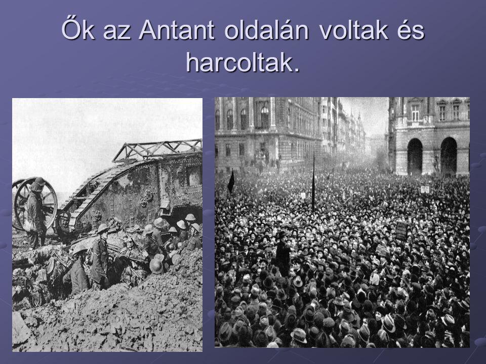 Ők az Antant oldalán voltak és harcoltak.